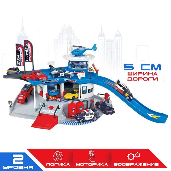 """Игровой набор """"Полицейский участок"""", 2 уровня, вертолетная площадка"""