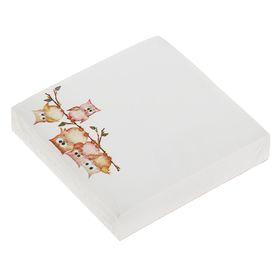 Блок бумаги для записей 8.5 x 8.5 см, 200 листов, 70 г/м2, «Совы», офсет