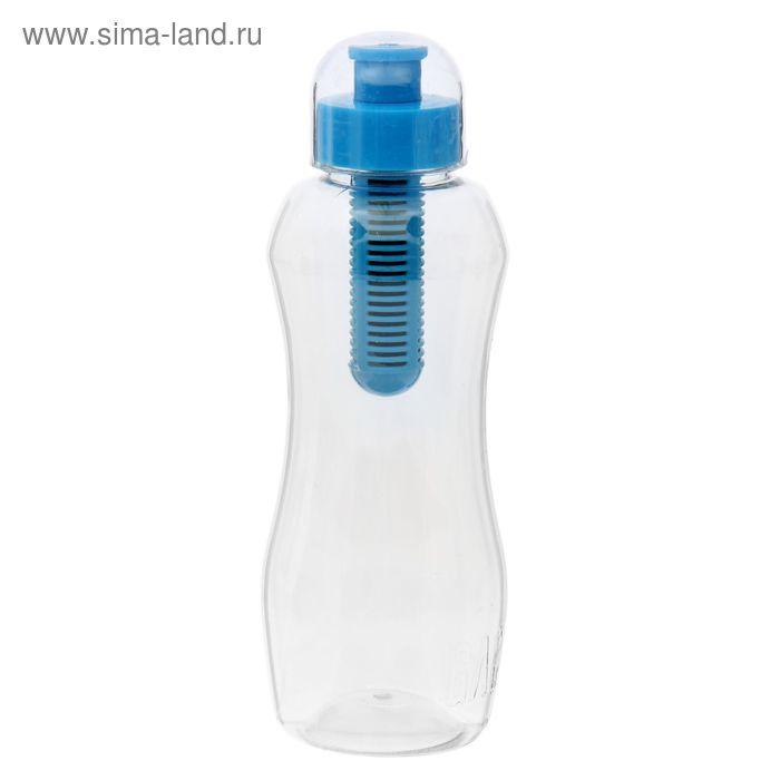 Бутылка с картриджем 500 мл GAC, цвет синий