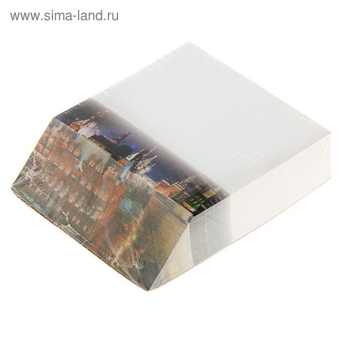 """Блок бумаги для записей с косым цветным срезом 9.0*11см, 300л, 70г """"Старый город"""""""