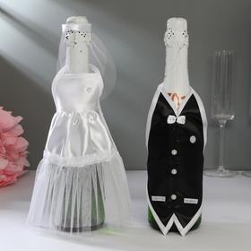 """Decoration on champagne """"Wedding waltz"""" white"""