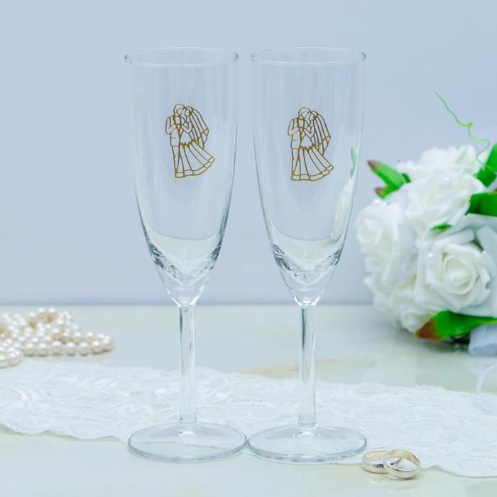 Набор свадебных бокалов для битья, 2 шт.