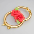Кольца на радиатор «Свадьба» с красными цветами