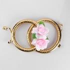 Кольца на радиатор «Свадьба» с розовыми цветами