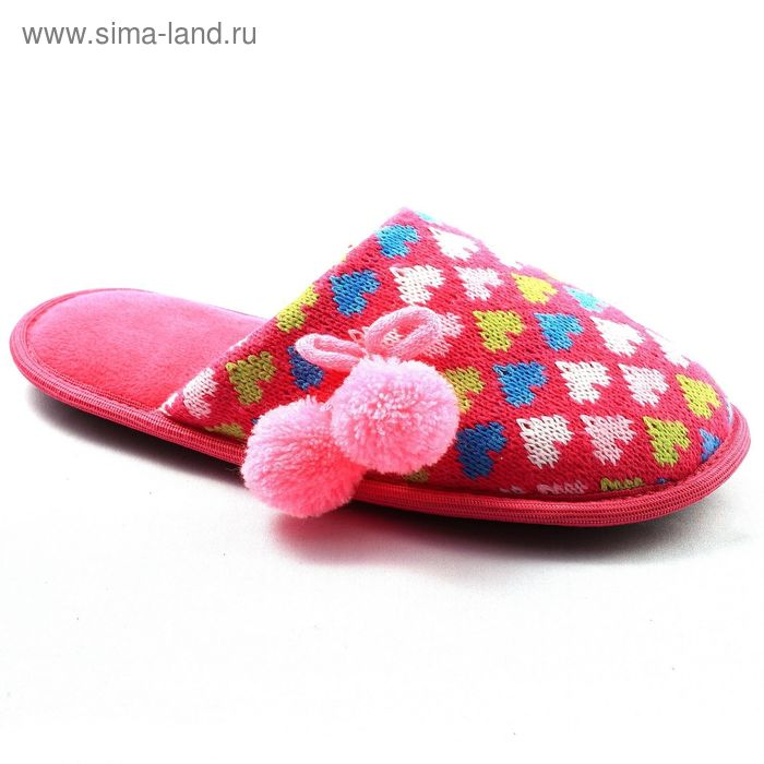 """Тапочки женские закрытые """"Гармония"""", размер 36-41, цвет розовый/сиреневый/красный 135-5954 P   15971"""