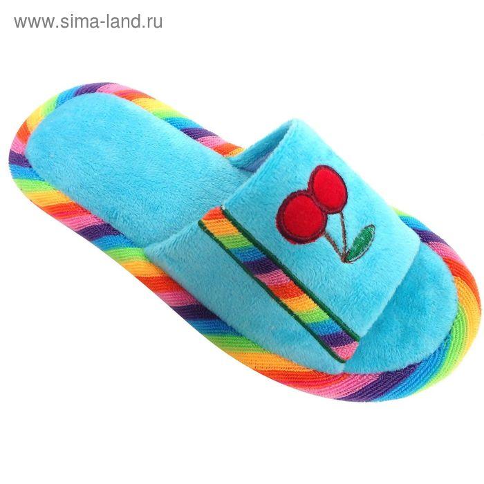 """Тапочки детские открытые """"Классика"""", размер 32-37, цвет голубой 128-5270 Н"""
