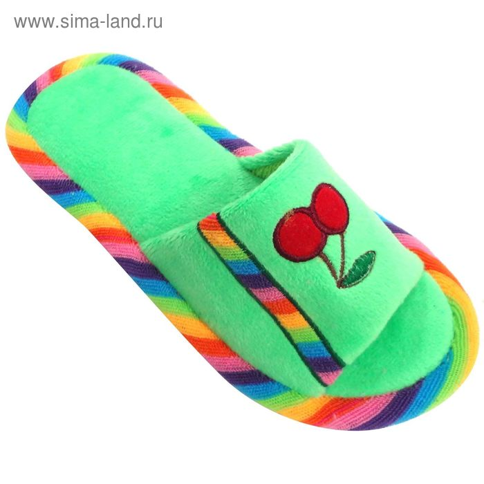 """Тапочки детские открытые """"Классика"""", размер 32-37, цвет светло-зелёный 128-5271 Н"""