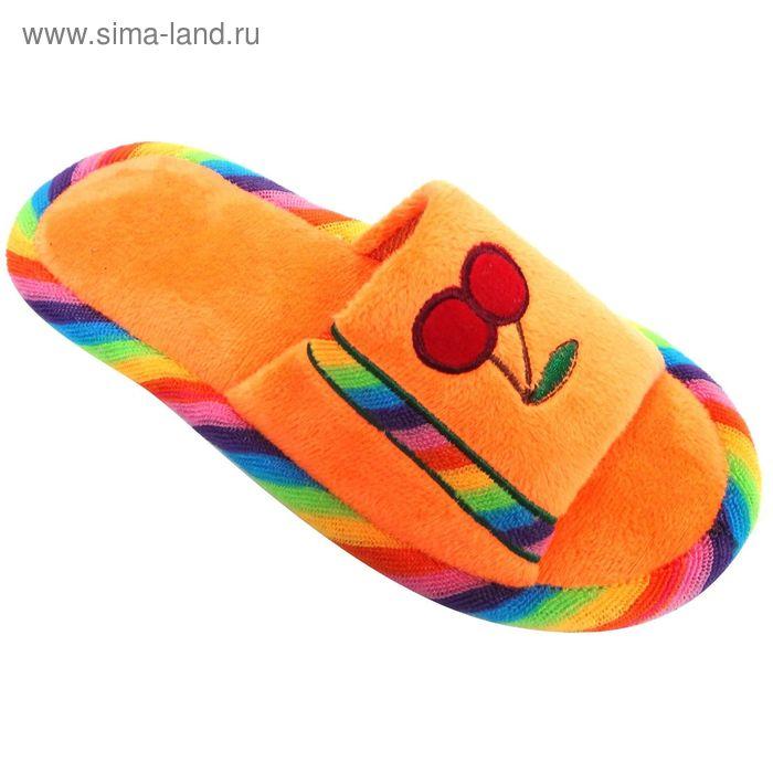 """Тапочки детские открытые """"Классика"""", размер 32-37, цвет оранжевый 128-5272 Н"""