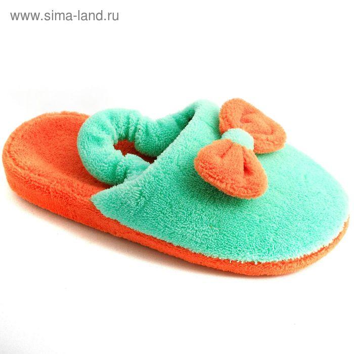 """Тапочки детские """"Комфорт"""", размер 30-35, цвет оранжевый/розовый/фиолетовый 138-4161"""