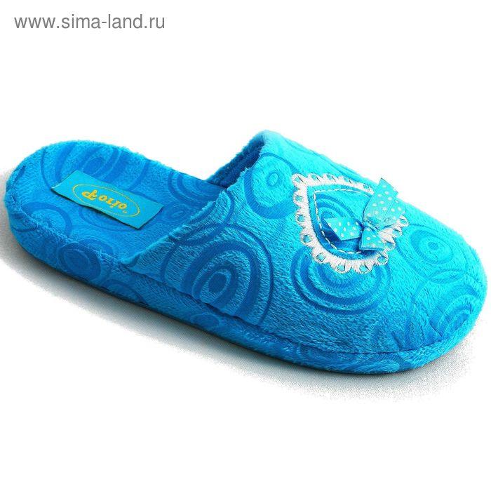 """Тапочки детские """"Комфорт"""", размер 30-35, цвет голубой/розовый/сиреневый 138-4427-1"""