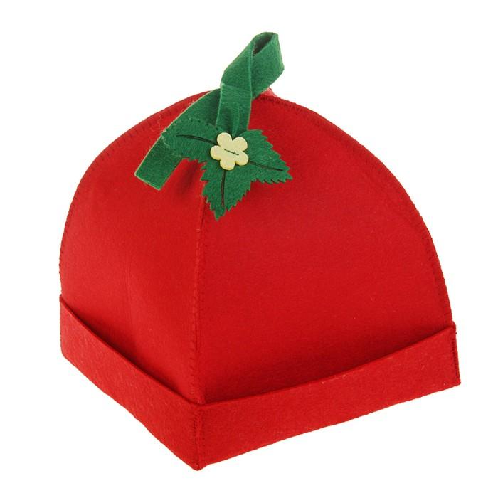 Банная шапка «Клубничка»