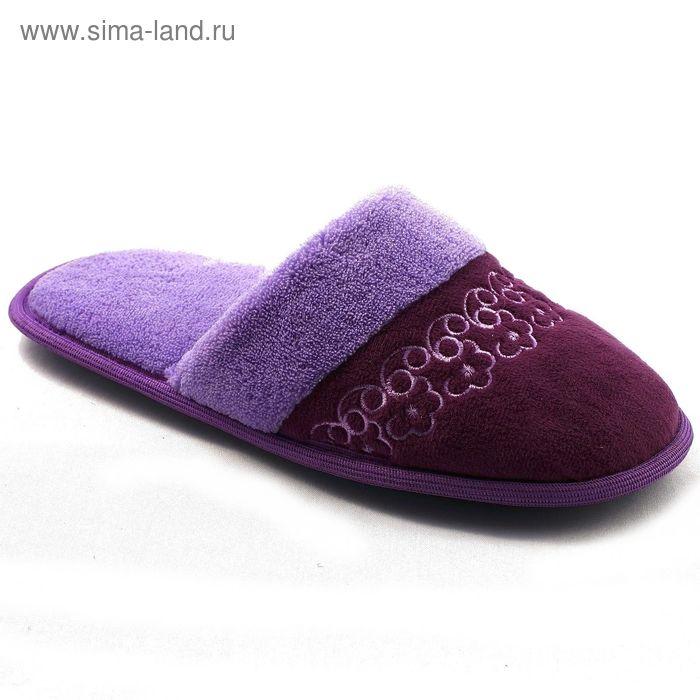 """Тапочки женские закрытые """"Гармония"""", размер 36-41, цвет фиолетовый/синий/бордо 135-5572 P"""