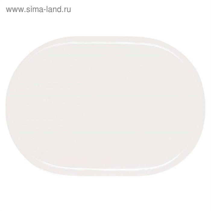 Салфетка овальная PVC Uni, размер 28x40 см, цвет белый 3581101