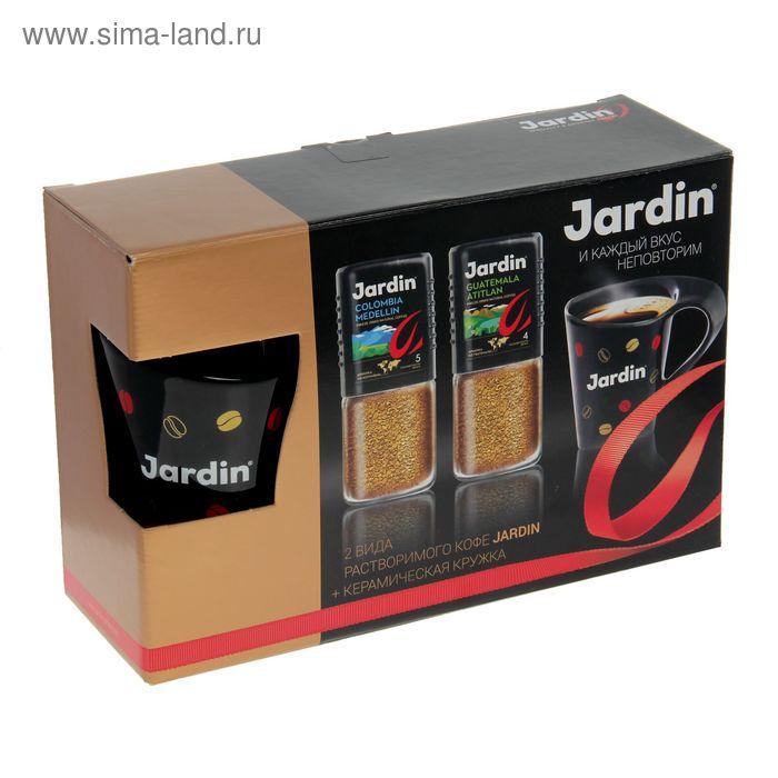 Кофе Jardin подарочный набор с керамической кружой, 2 вида*95г