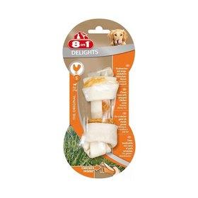 Косточка 8in1 DELIGHTS S для мелких и средних собак, с куриным мясом, 11 см