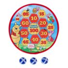 "Дартс ""Медвежонок Винни и его друзья"", d=28 см, 3 мяча-липучки"