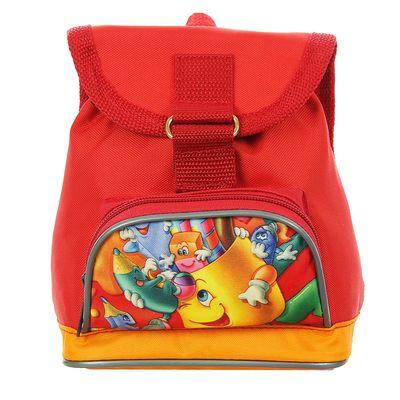 """Рюкзак детский на стяжке шнурком """"Карандаш"""", 1 отдел, 1 наружный карман, рисунок МИКС, красный"""