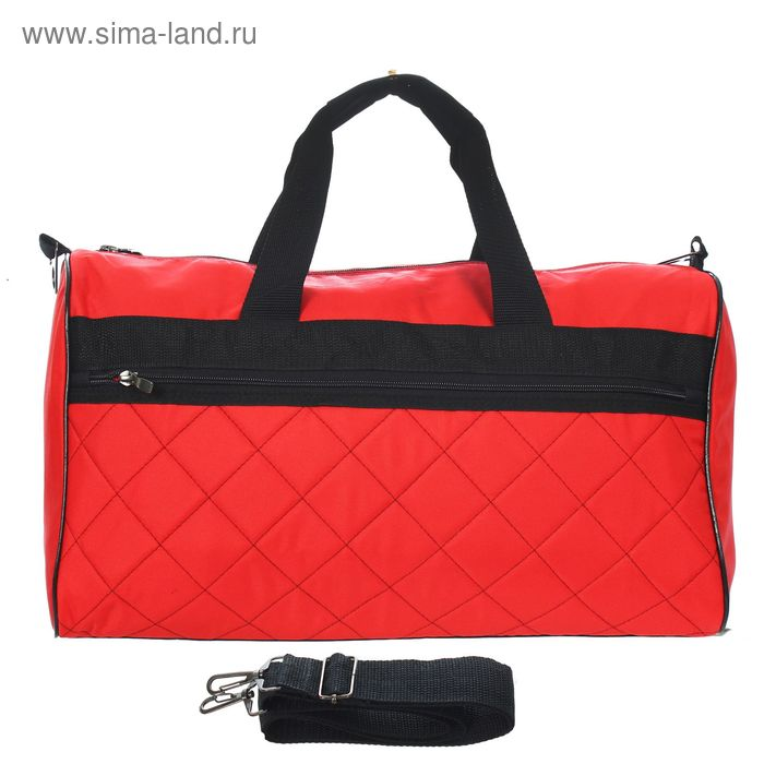 Сумка дорожная на молнии, 1 отдел, 1 наружный карман, красный/чёрный