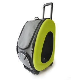 Сумка-тележка складная 3в1 Ibbiyaya для собак, до 8 кг (сумка, рюкзак, тележка), лайм
