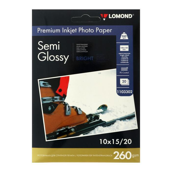 Фотобумага LOMOND для струйной печати А6, 260г/м2 , 20 листов
