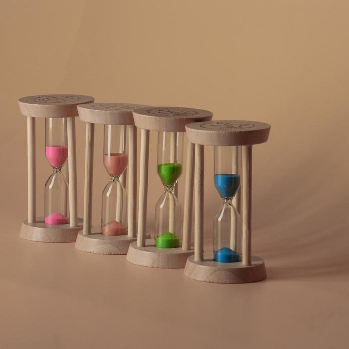 """Часы песочные """"Акцент"""" на 3 минуты, 9х5х5 см, микс - фото 1658973"""