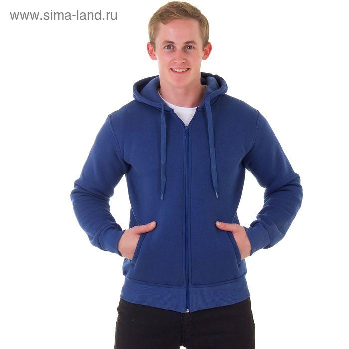 Джемпер-толстовка мужской с капюшоном на молнии арт.935, цвет джинс, р-р XL
