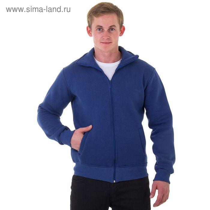 Джемпер-толстовка мужской на молнии арт.920, цвет джинс, р-р L
