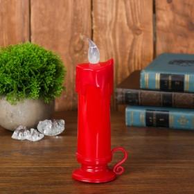 Свеча светодиодная «Подсвечник», цвет красный