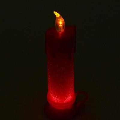 """Свеча светодиодная """"Подсвечник"""", цвет красный"""