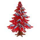 Сувенир Елка новогодняя сборная малая, цвет красный