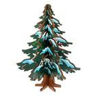 Сувенир елка новогодняя сборная малая, цвет зеленый