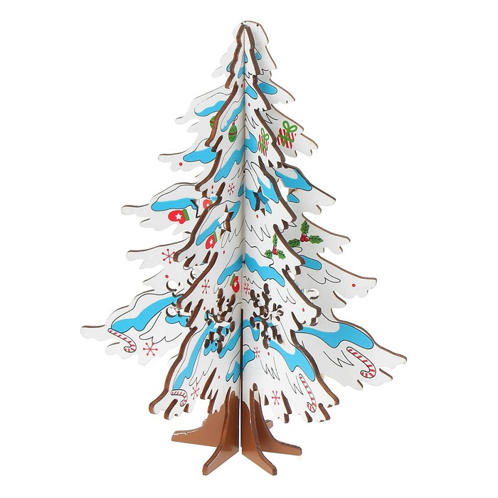 Сувенир елка новогодняя сборная большая, цвет белый