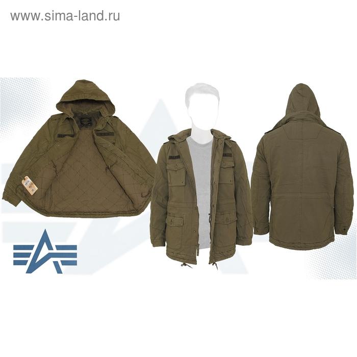 Куртка утеплённая M-65 Marcher Alpha Industries Vintage Olive, M