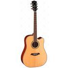 Электроакустическая гитара с вырезом Parkwood S66, цвет натурального дерева + чехол