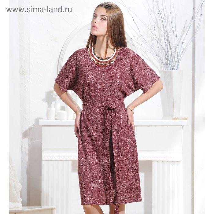 Платье 5069 С+, размер 54, рост 164 см, цвет терракот/белый