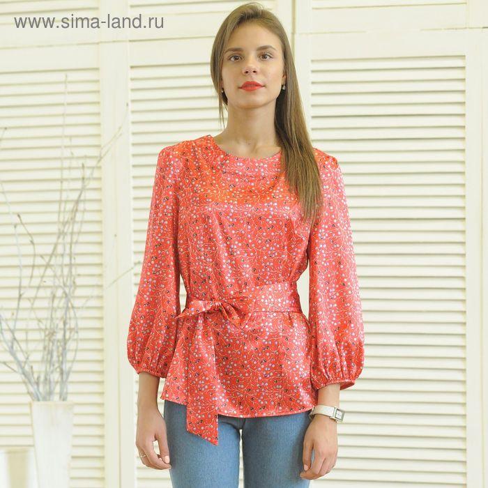 Блуза 5174 С+, размер 52, рост 164 см, цвет красный