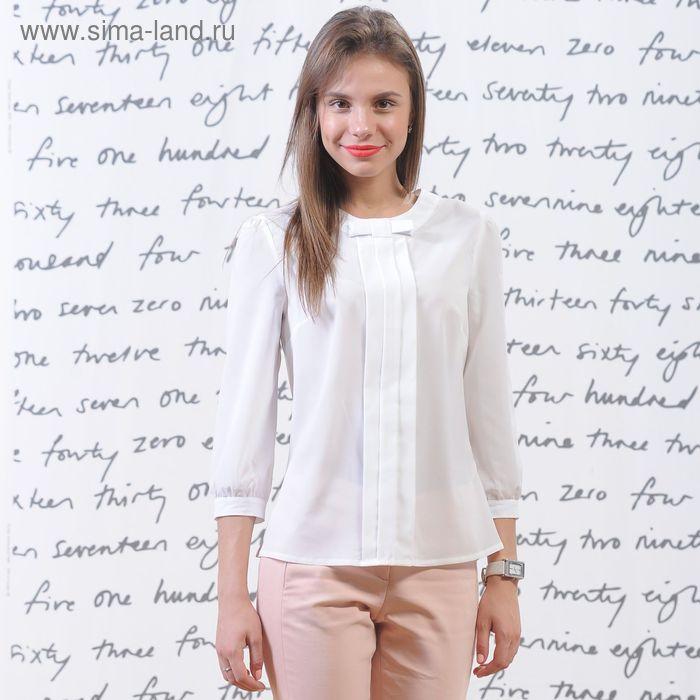 Блуза 5173, размер 44, рост 164 см, цвет белый