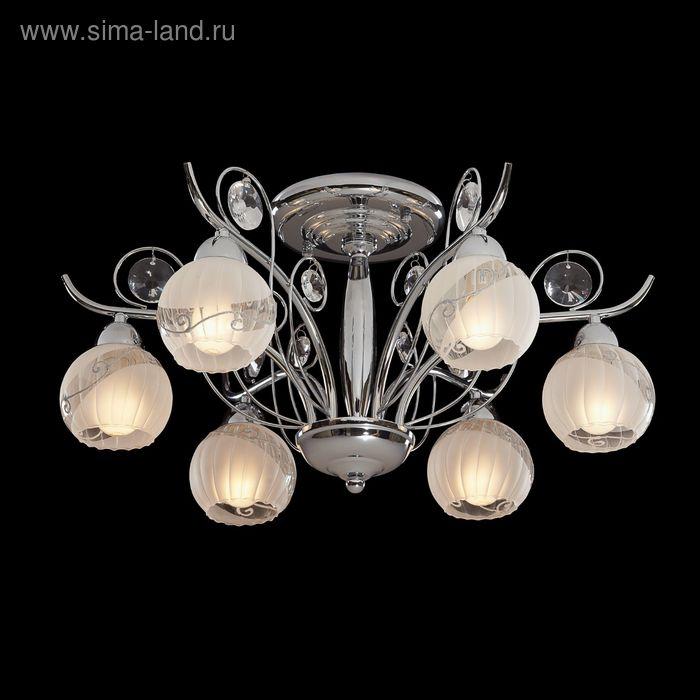 """Люстра """"Актея"""" 6 ламп 60W Е14 хром"""