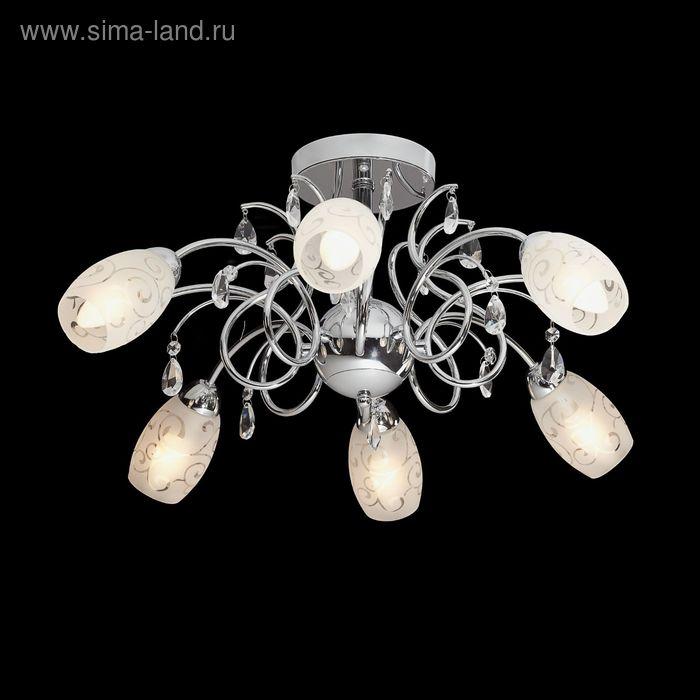 "Люстра ""Асия"" 6 ламп 60W Е14 хром"