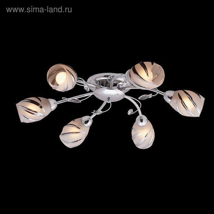 "Люстра ""Галия"" 6 ламп 60W Е14 хром"