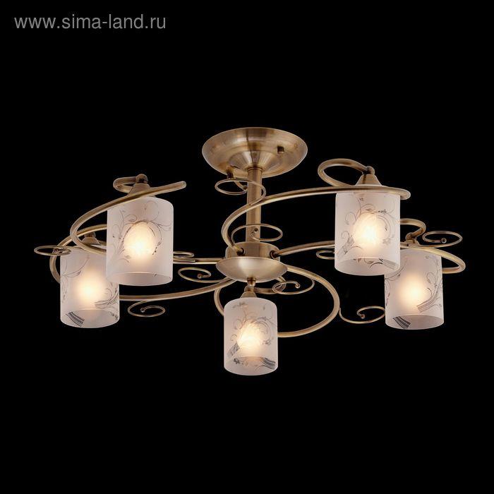 """Люстра """"Абель"""" 5 ламп 60W Е14 античное золото"""