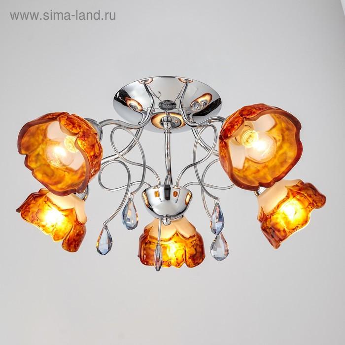 """Люстра """"Деро"""" 5 ламп 60W Е14 хром"""