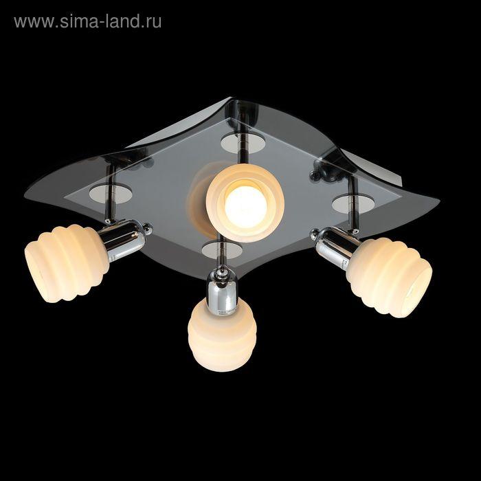 """Люстра """"Дана"""" 4 лампы 60W Е14 хром"""