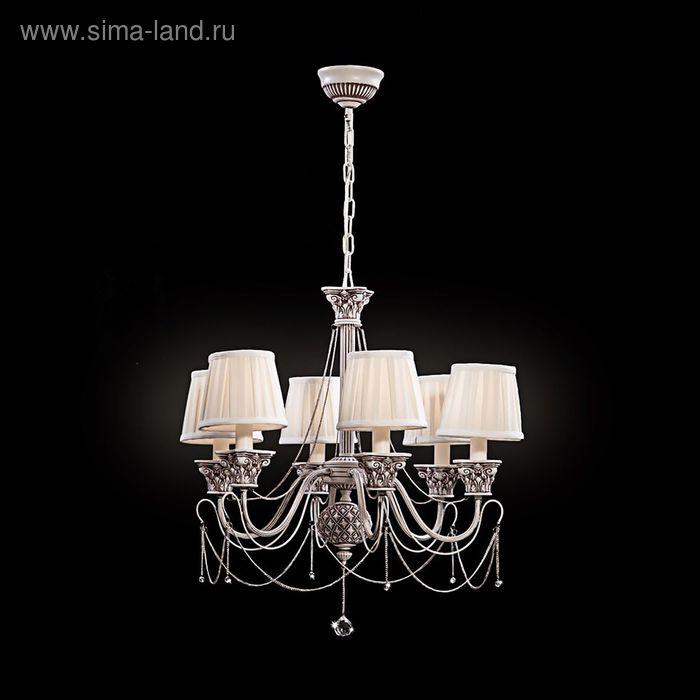 """Люстра """"Сантини"""" 6 ламп 40W Е14 белый"""