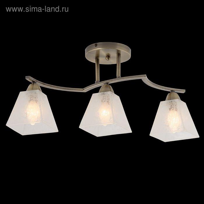 "Люстра ""Морозный узор"" 3 лампы 60W Е14 античная бронза"