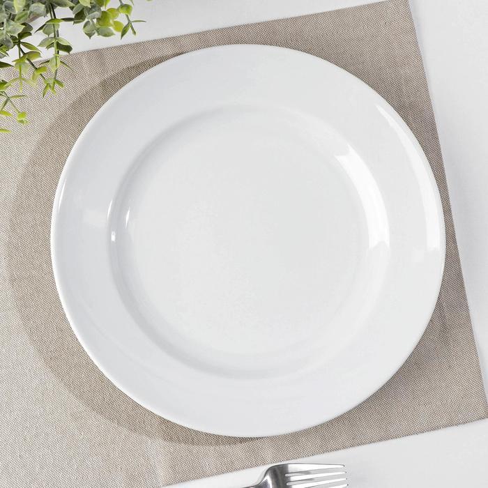 """Тарелка мелкая 26,5 см """"Идиллия"""", цвет белый"""