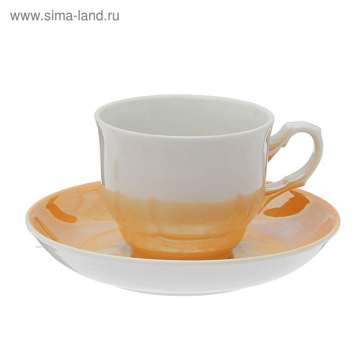 """Чайная пара 250 мл """"Тюльпан"""", блюдце 15 см, без деколи"""