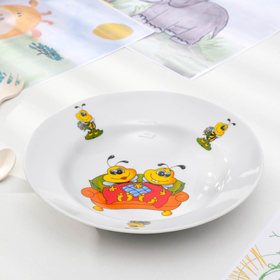 Тарелка глубокая «Идиллия. Пчёлы», 20 см, 230 мл, рисунок МИКС