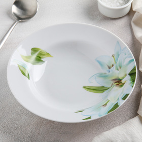 Тарелка глубокая «Цветущая лилия», 20 см, 230 мл