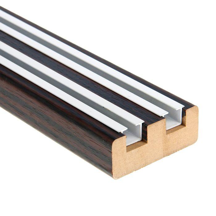 """Профиль прямоугольный деревянный """"ПРЕЗИДЕНТ"""", венге, длина 320 см   1989682"""